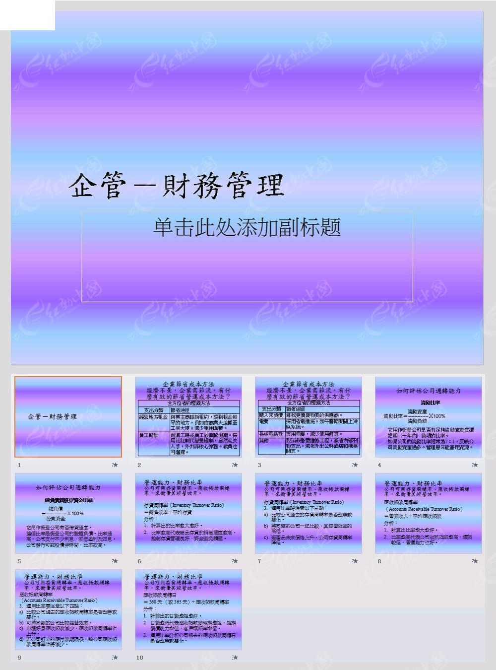 财务管理ppt模板免费下载_金融理财素材图片