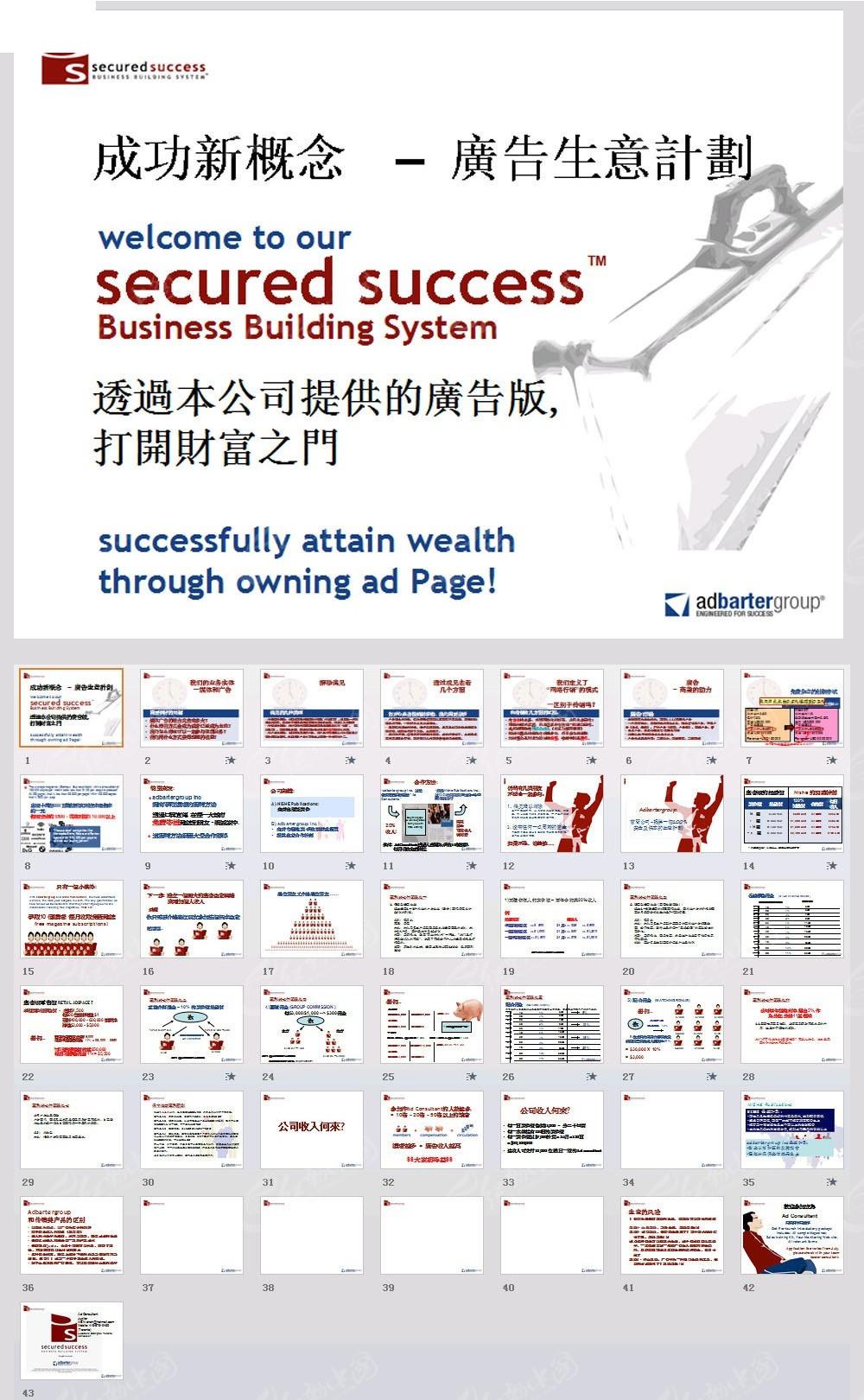 成功新概念–广告生意计划PPT模板素材免费下载 红动网