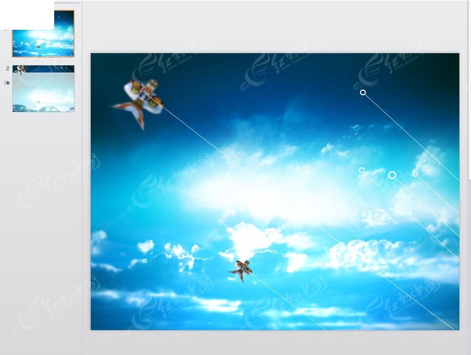 风筝ppt模板免费下载_其他ppt素材图片