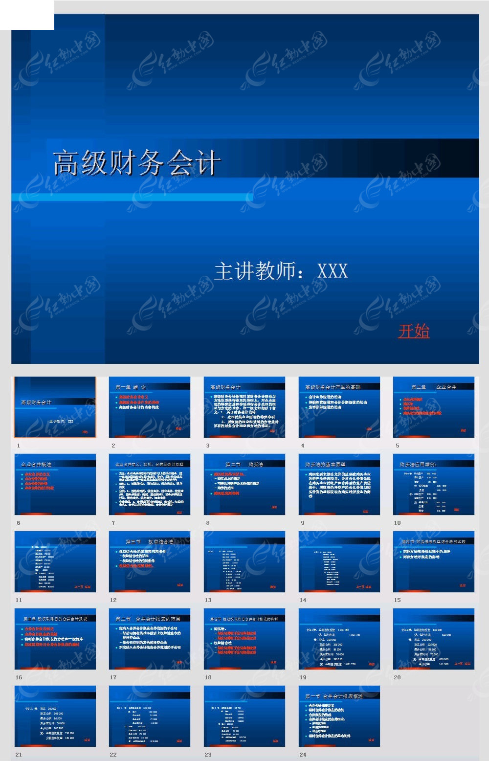 高级财务会计ppt模板免费下载_金融理财素材图片