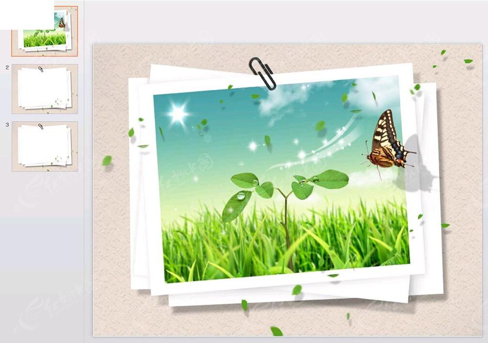 韩国相框ppt模板免费下载_其他ppt素材图片