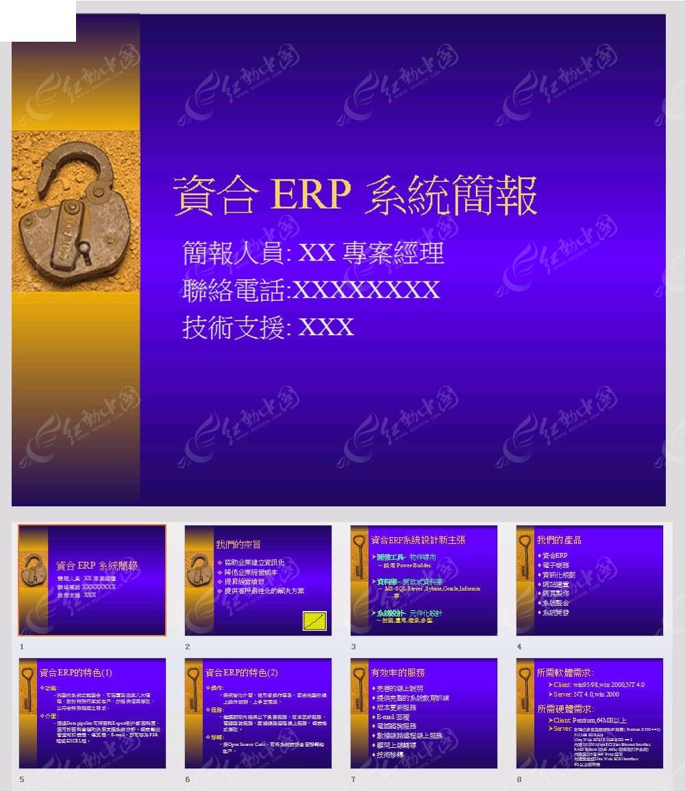 访问素材主题是企业资合erp简报ppt模板,编号是3876556,文件格式ppt图片