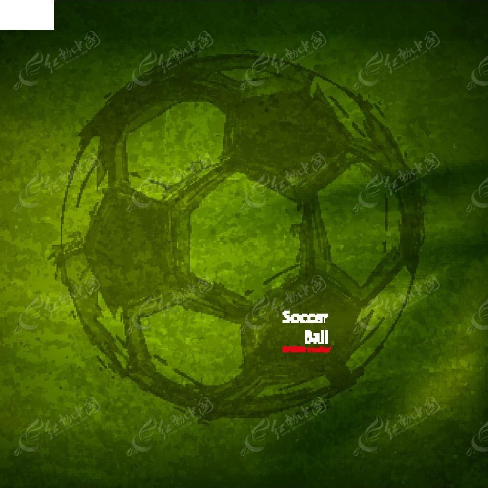 矢量素材 花纹边框 底纹背景 手绘绿草足球画面eps  请您分享: 红动网