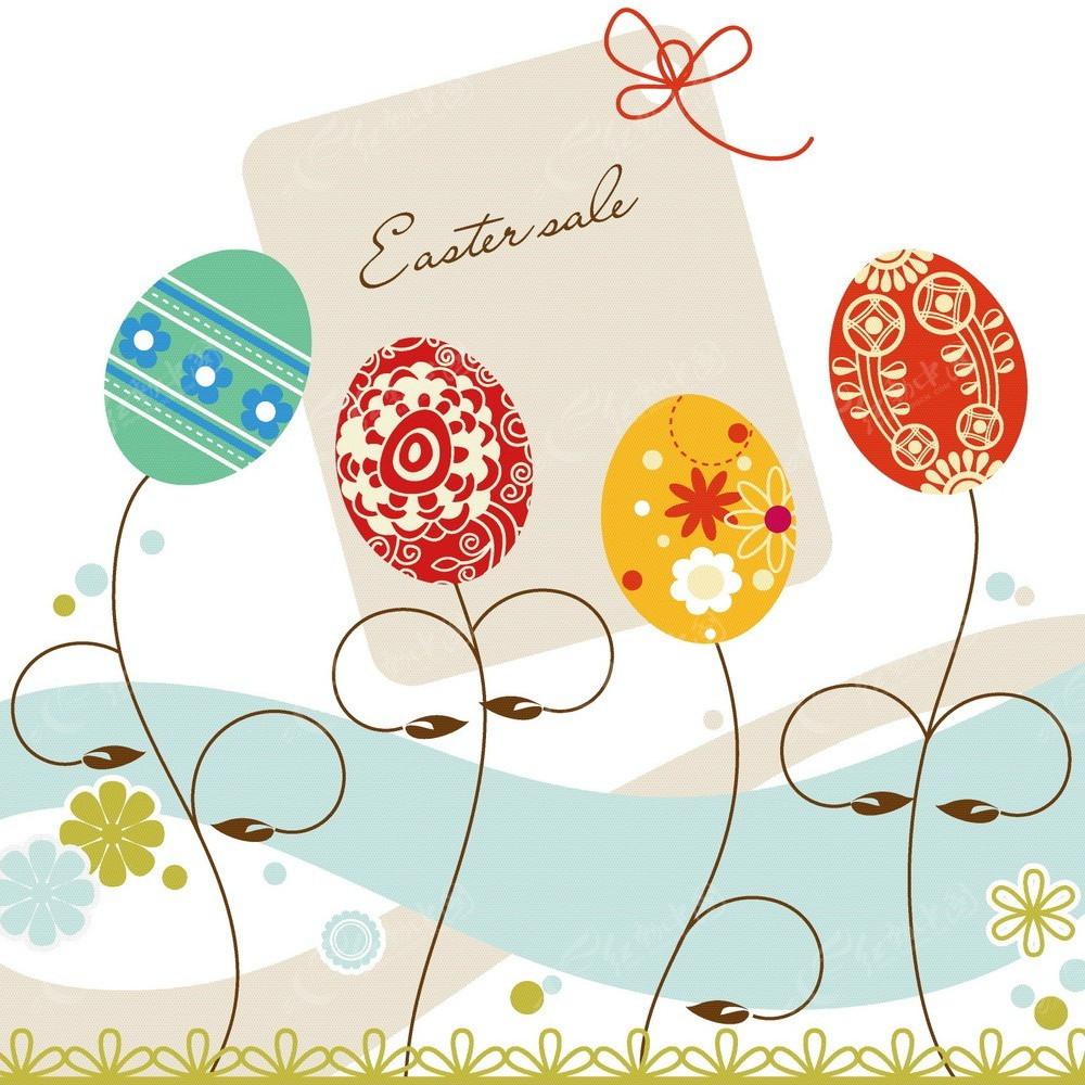 手绘线条彩色花纹设计卡片eps免费下载_底纹背景素材