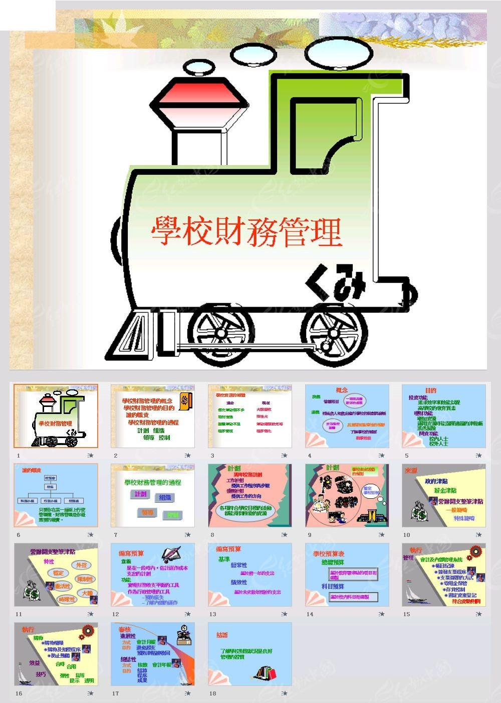 学校财务管理ppt模板免费下载_教育培训素材图片