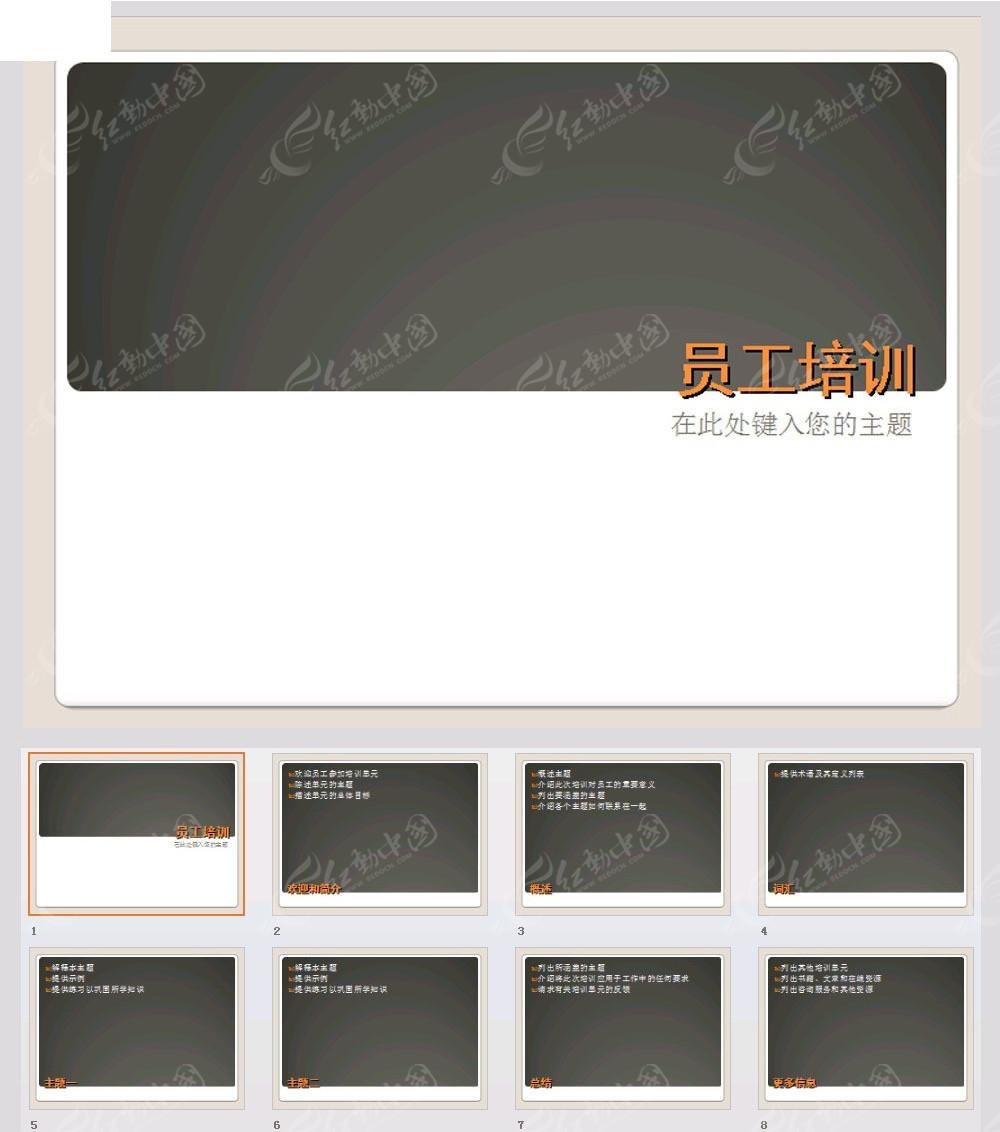 员工培训演示文稿ppt模板免费下载_企业商务素材图片