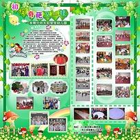 六一儿童节绿色展板设计模板