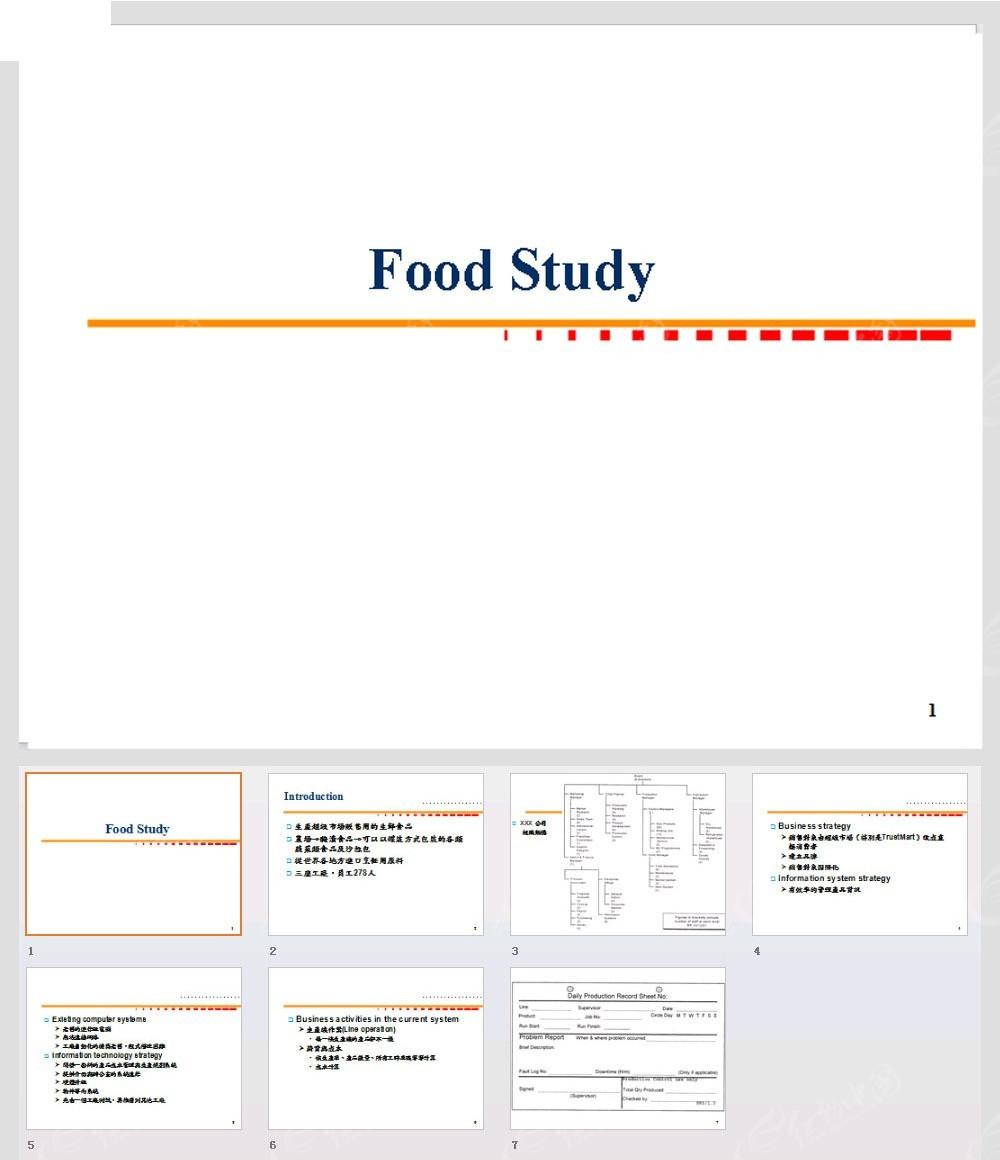 食物学习ppt模板图片