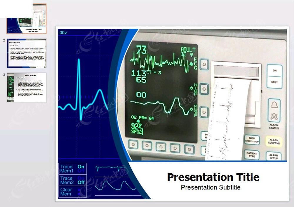 心电图测试ppt模板