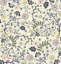 彩色手绘线条花纹组合花纹eps