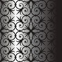 简洁欧式手绘线条花纹组合花纹素材eps