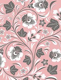 简约彩色手绘线条花纹组合卡片eps