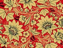 简约复古彩色手绘线条花纹组合卡片eps