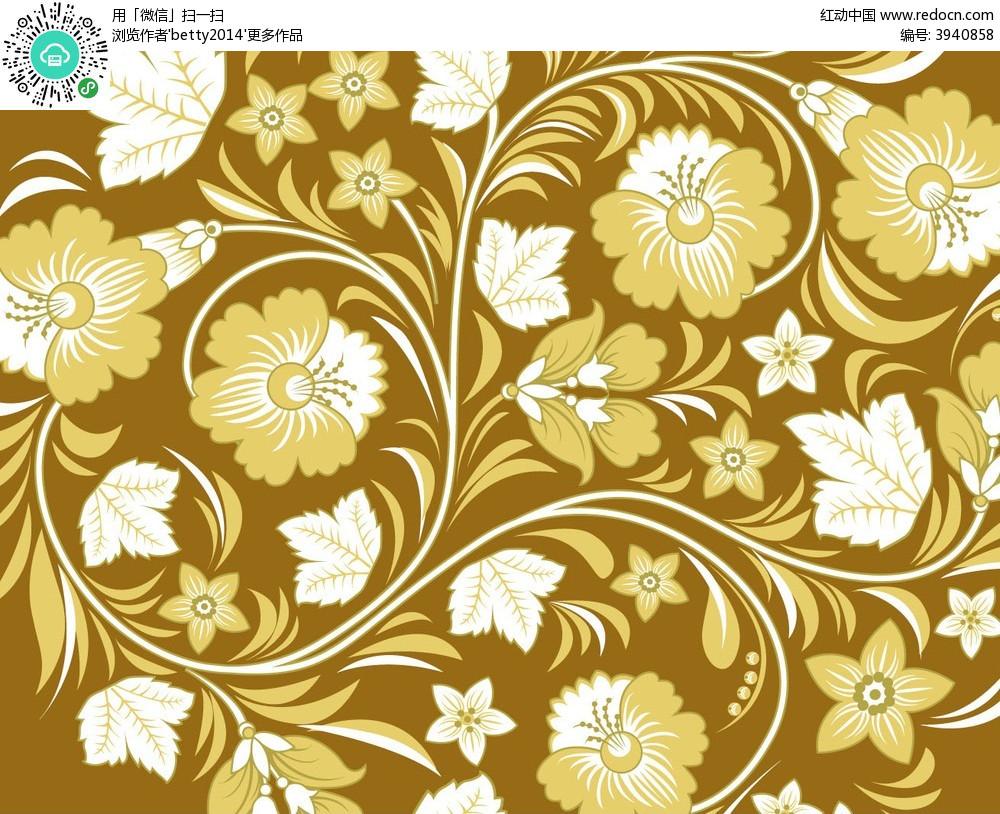 免费素材 矢量素材 花纹边框 底纹背景 简约复古手绘线条花纹组合卡片