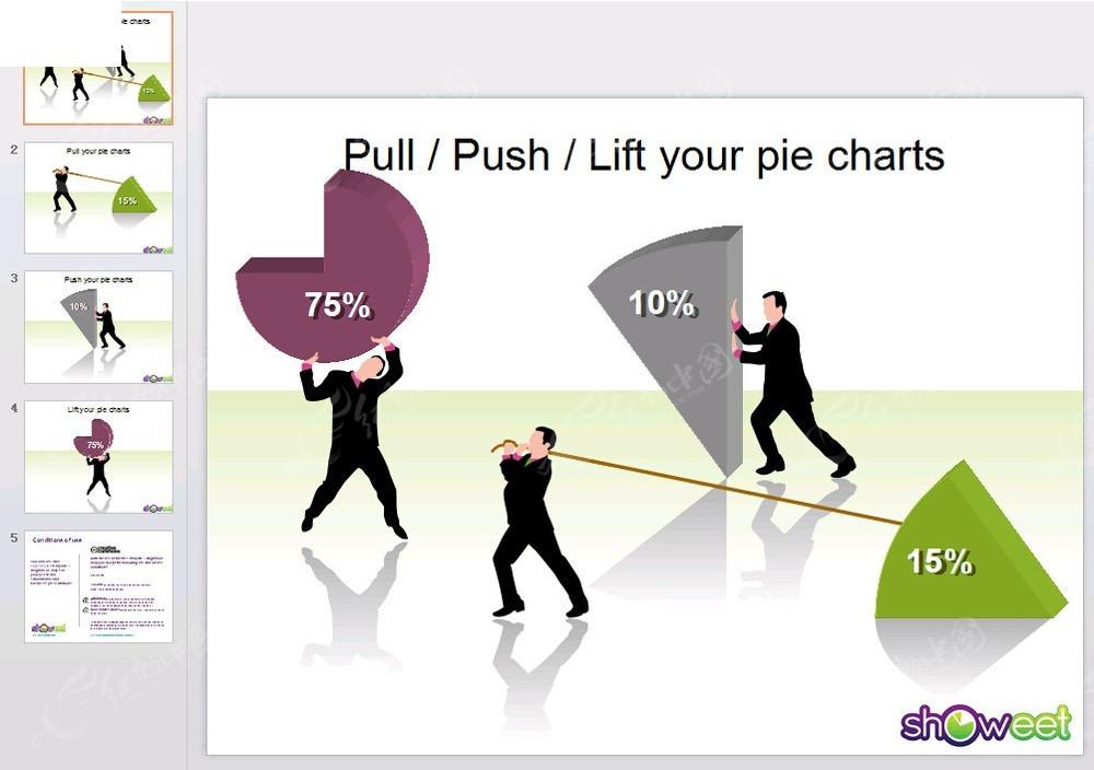 免費素材 ppt模板 ppt模板/ppt圖表 表格圖標 ppt個性比例餅圖  請您圖片