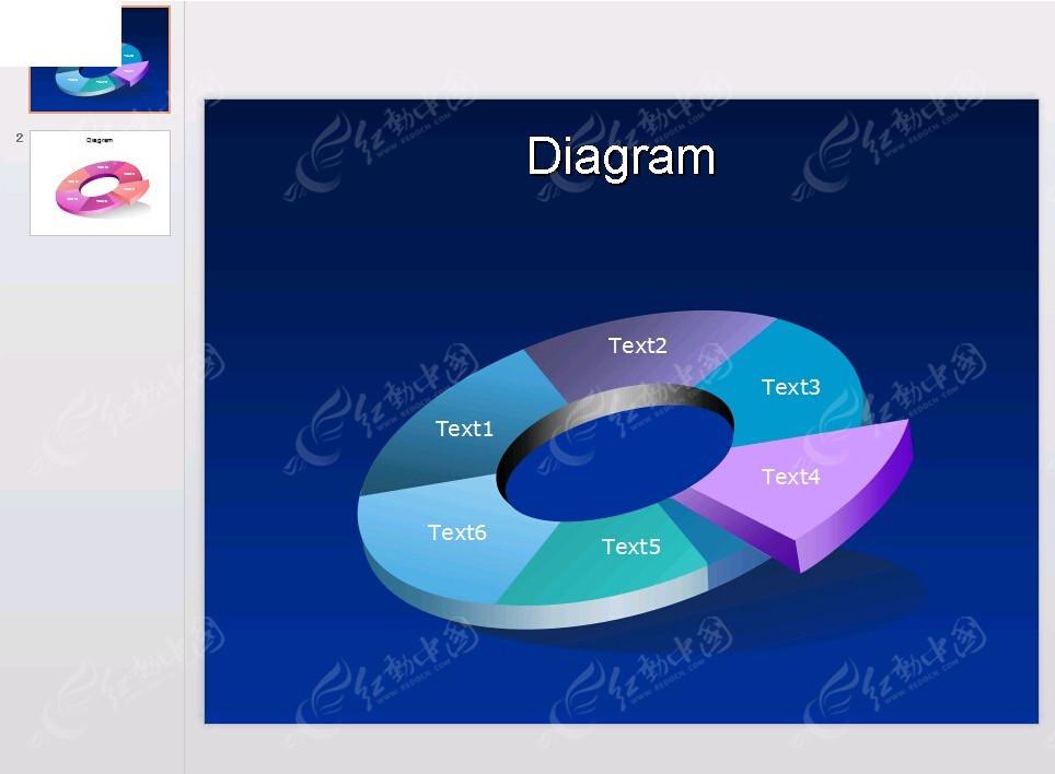 ppt立体环形图表