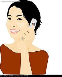 微笑着打电话的女生韩国时尚风格插图