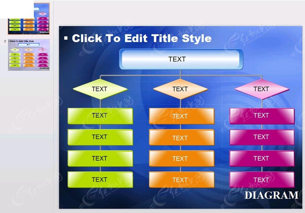 彩色企业框架信息PPT模板素材免费下载 编号3852426 红动网