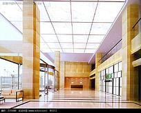 公办大厅模型效果图