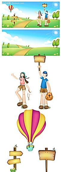 卡通热气球图片_卡通热气球设计素材