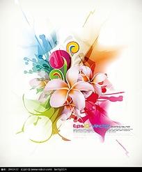 矢量抽象花卉素材EPS
