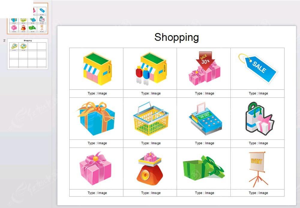 手绘销售用品图片背景ppt模板