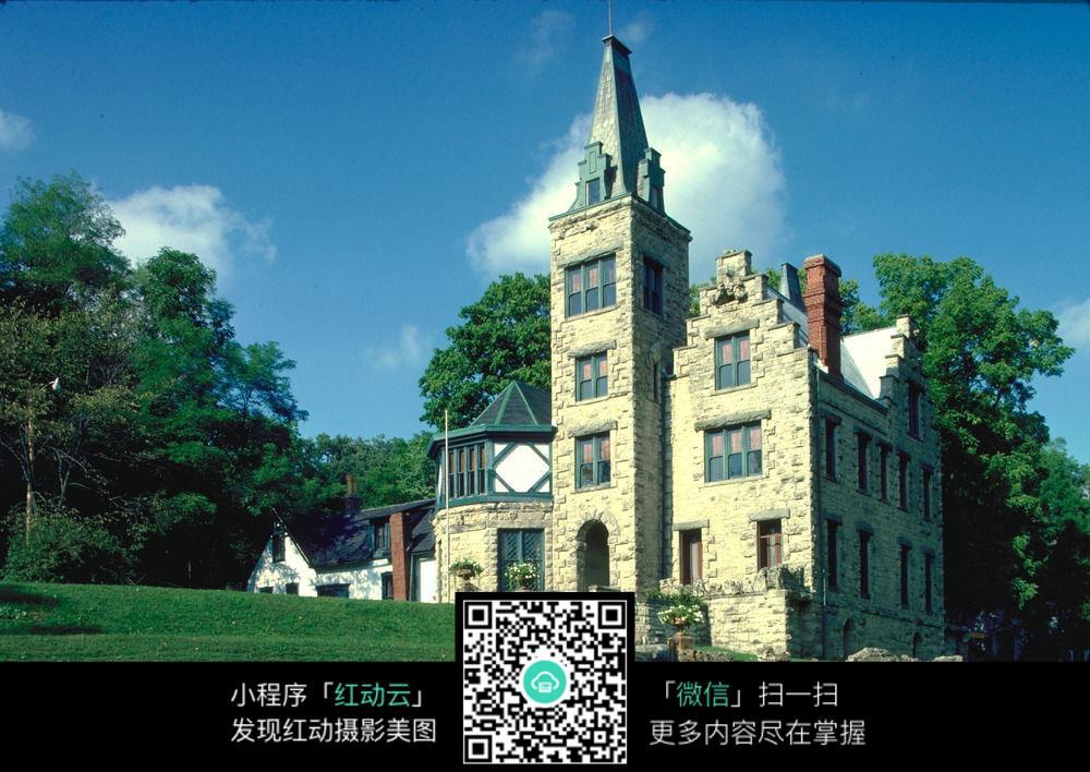 唯美欧式别墅风光_建筑设计图片图片