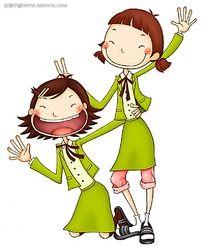 穿着校服的大笑女孩韩国漫画