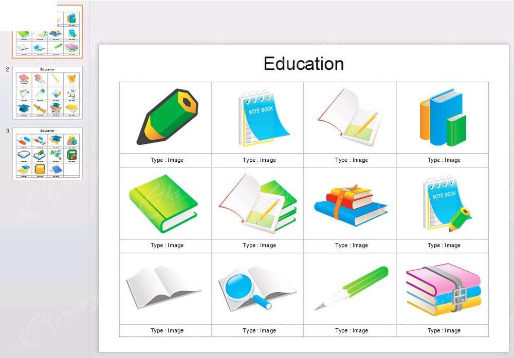 手绘学习用具图片背景ppt免费下载_表格图标素材