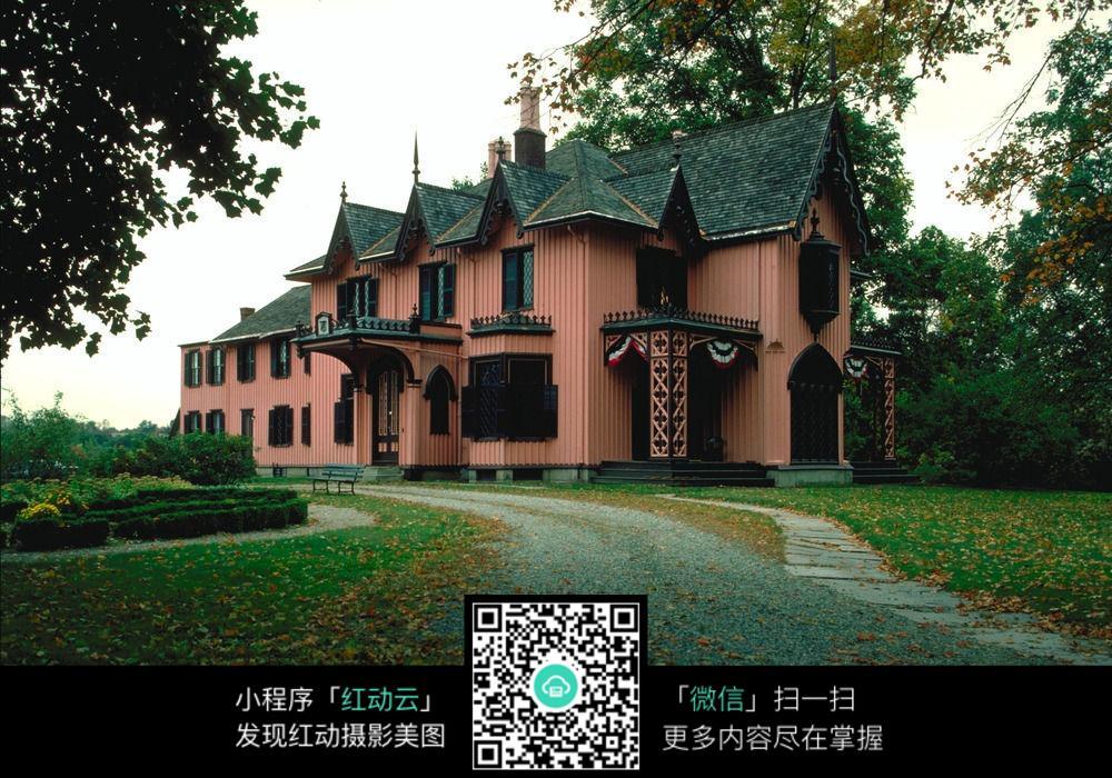 唯美欧式别墅建筑图片