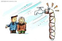 韩国水彩画寒冬中的母子时尚漫画