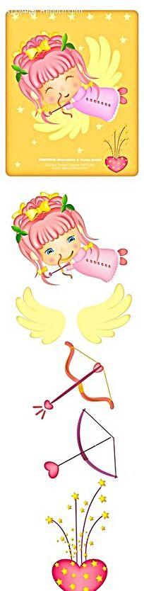 可爱手绘小天使韩国插画