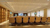会议电教室装修效果图max