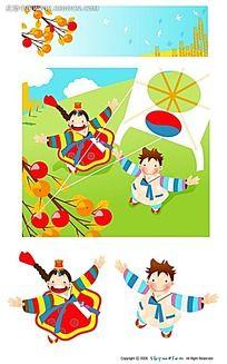 韩国手绘卡通人物图片 韩国手绘卡通人物设计素材 红动网图片