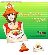 韩国女孩漫画图片_韩国女孩漫画设计素材漌漫画化图片