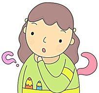 有疑问的小女孩人物插画