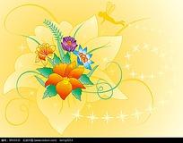 矢量花纹花朵