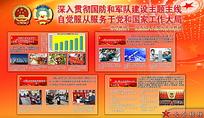 两会国防军队建设宣传栏