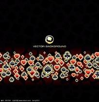 扑克牌花色组成的酷炫图案