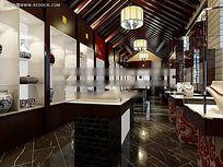珠宝店室内设计效果图max