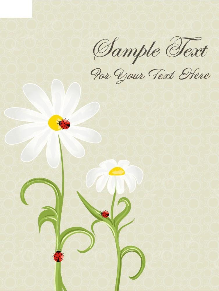 白色手绘花朵矢量创意背景