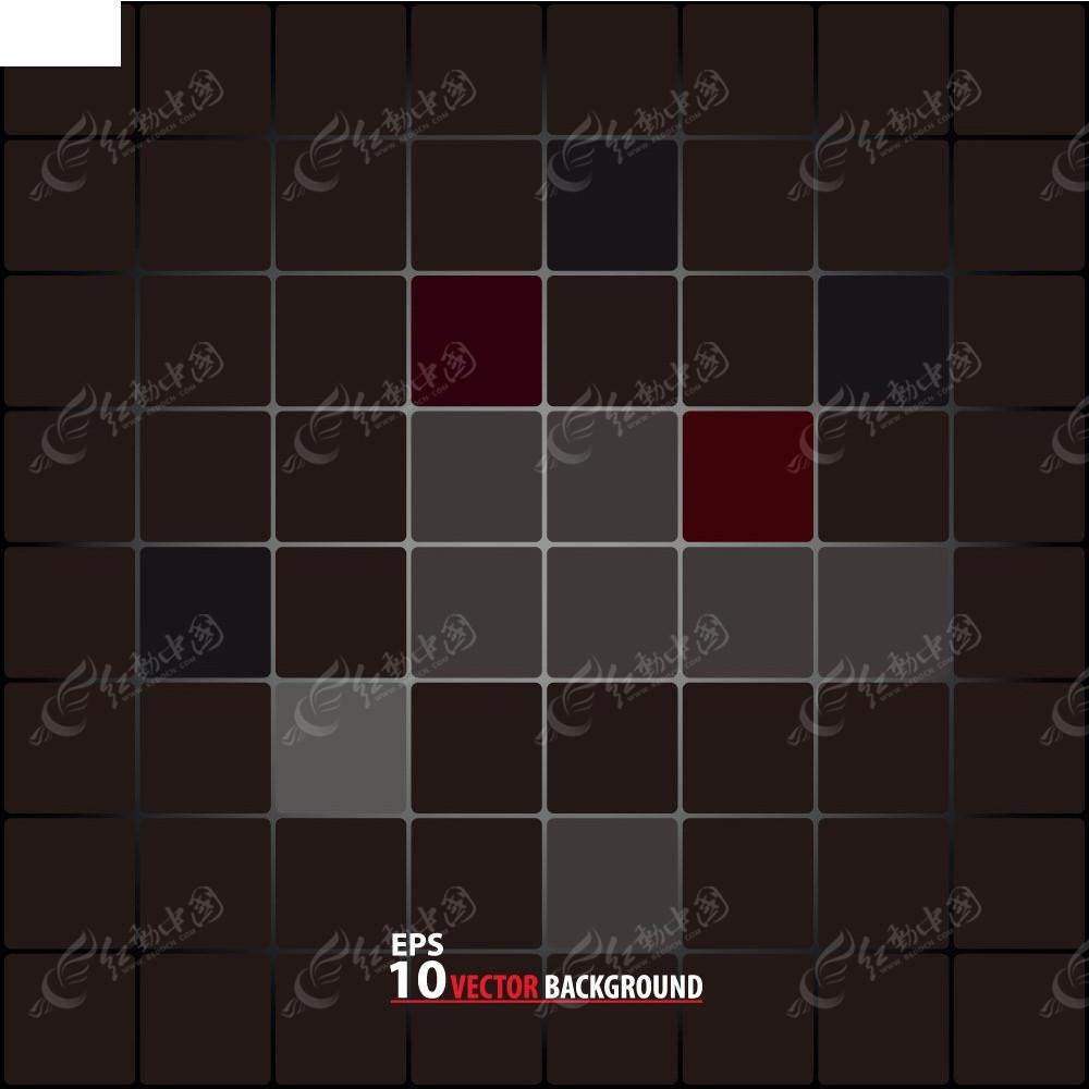 黑色格子矢量背景