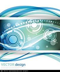 科技感蓝色圆球流动线条背景