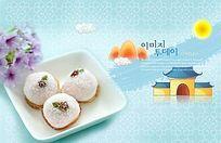 韩式风味饭团食品美食