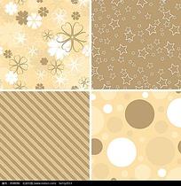 花朵星星圆球条纹黄色矢量创意商业背景