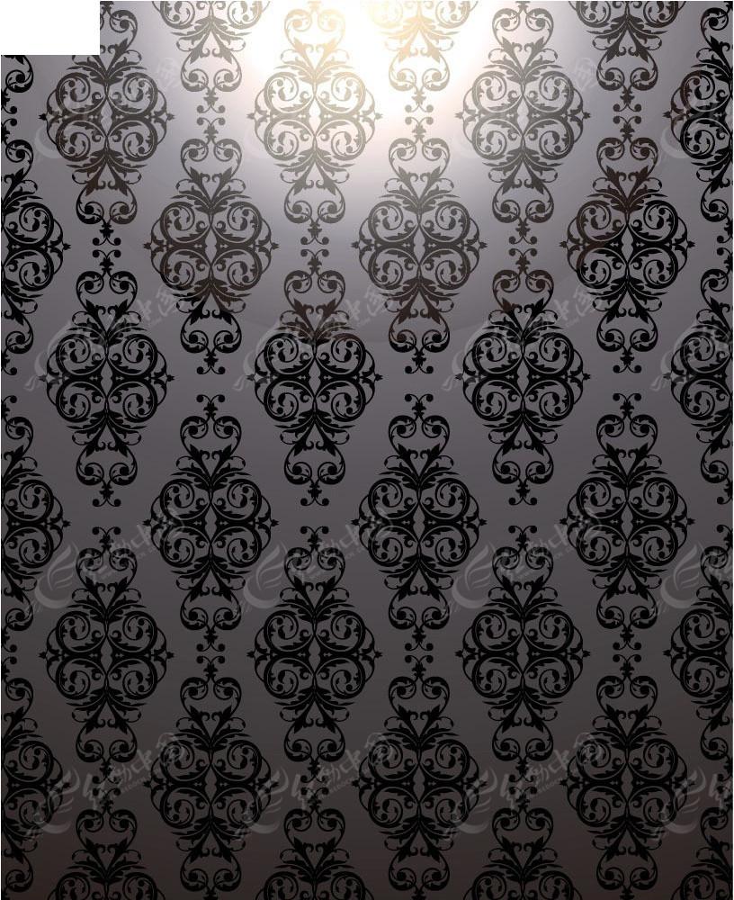 灰色古典花纹商业创意背景