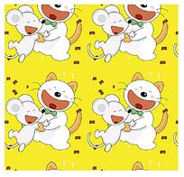 卡通猫和老鼠背景底纹
