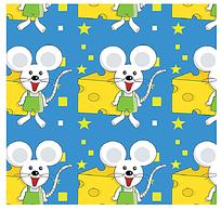 卡通小老鼠底纹背景素材