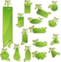 绿色树叶标签