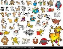 卡通动物插画